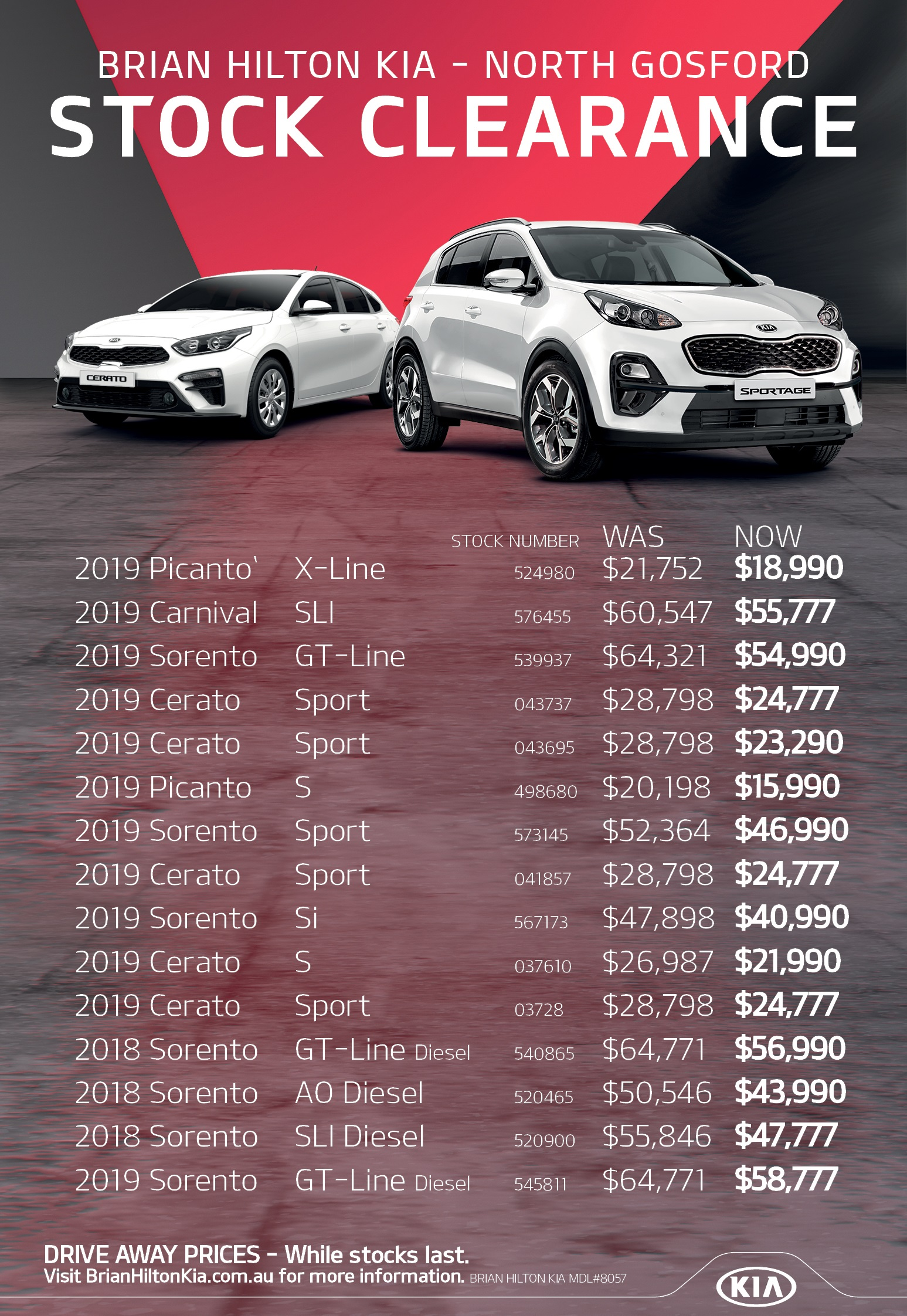 Brian Hilton Kia - North Gosford Stock Clearance